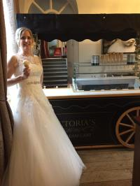 ice cream cart wedding warbrook house