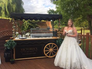 victoria ice cream cart bride warbeook house