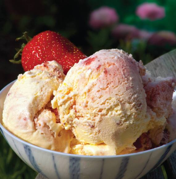Strawberries in Clotted Cream