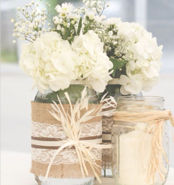 841550edca053394946ee26c7078efa3--custom-mason-jars-burlap-lace