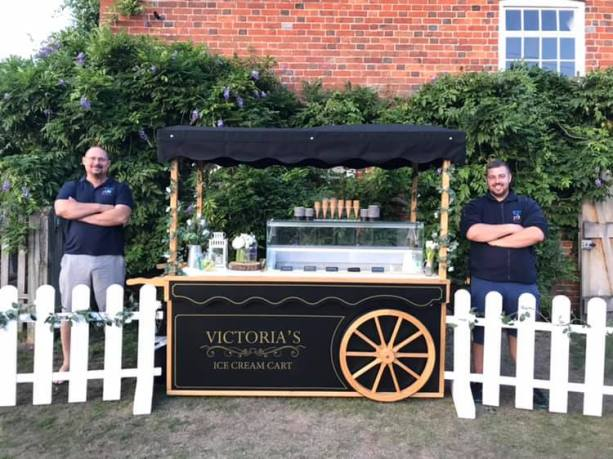 corporate booking ice cream event victoria cart 3