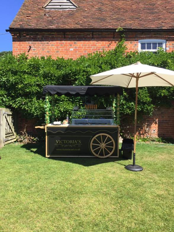 ice cream cart umbrella ufton court