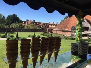 ufton court ice cream cart cones