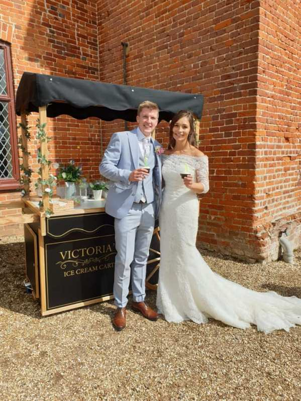 ufton court weddings back house ice cream