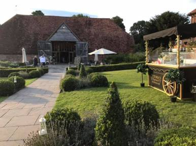 victorias ice cream cart ufton court weddings